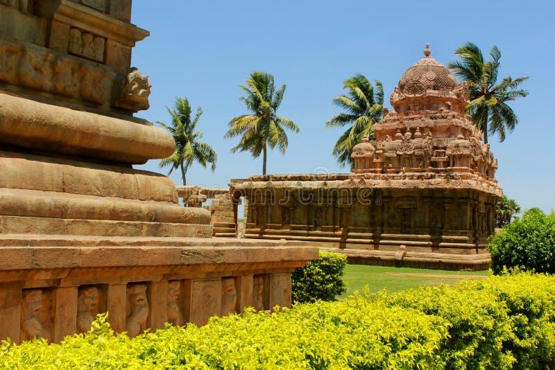 Belle construction architecturale dénommée dravidian dans le temple de Brihadisvara dans Gangaikonda Cholapuram, Inde image stock