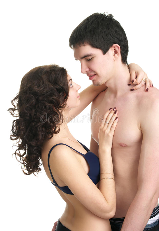 Belle coppie sessuali nell'amore fotografia stock libera da diritti