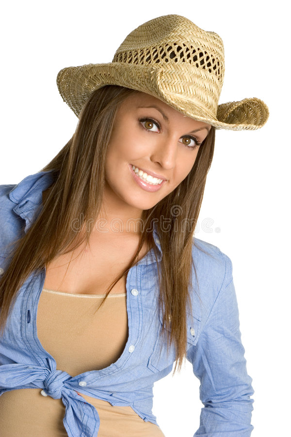 Belle cow-girl photo stock