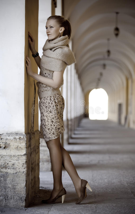 Belle dame blonde images libres de droits