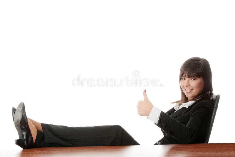 Belle dame d'affaires photo stock