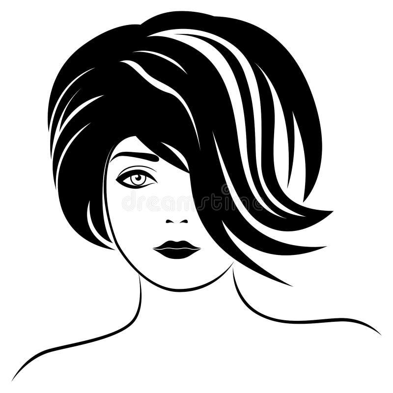 Belle dame ? la mode illustration de vecteur