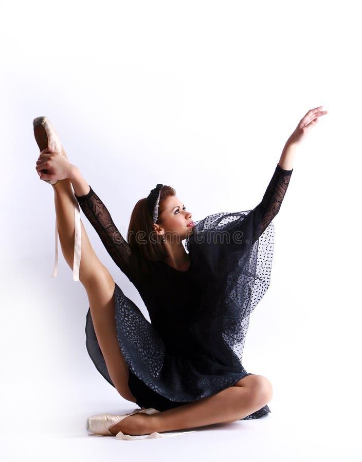 Belle danse de ballet de danse de ballerine images libres de droits