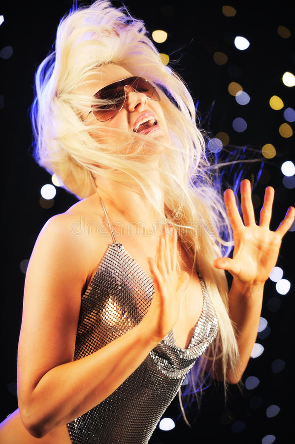 Belle danse de femme photo stock