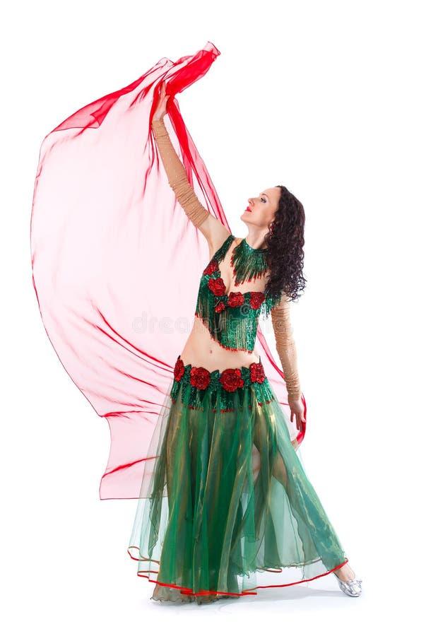 Belle danseuse du ventre mince de femme photo stock