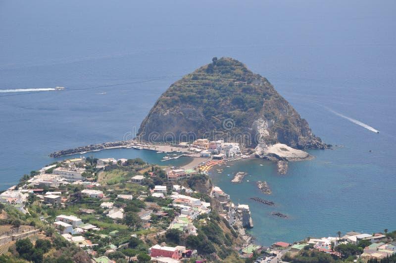 Belle destination Italie d'île d'ischions photos libres de droits