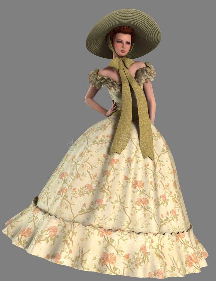 Belle do sul ilustração royalty free