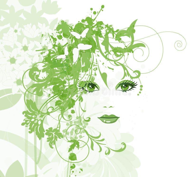 Belle donne con i fiori royalty illustrazione gratis