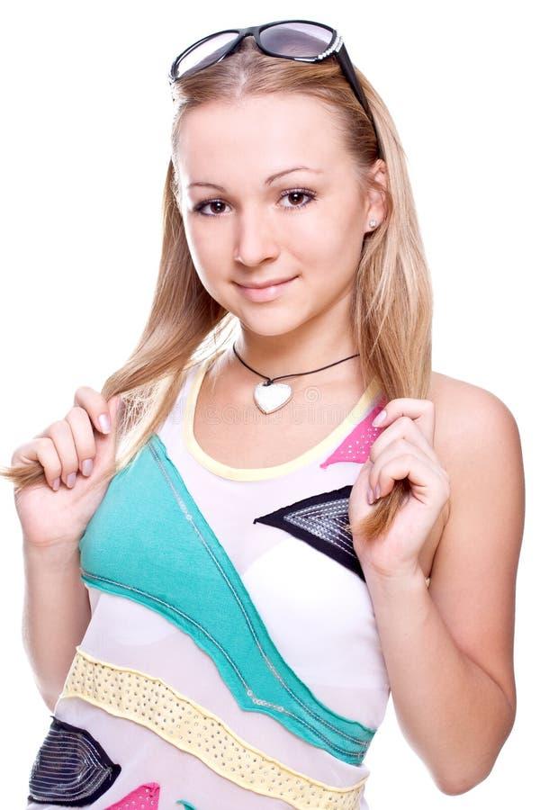 Belle donne in una camicia colorata immagine stock libera da diritti