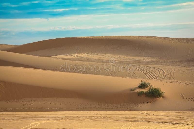 Belle dune de sable blanche en Ne de Mui, Vietnam image stock