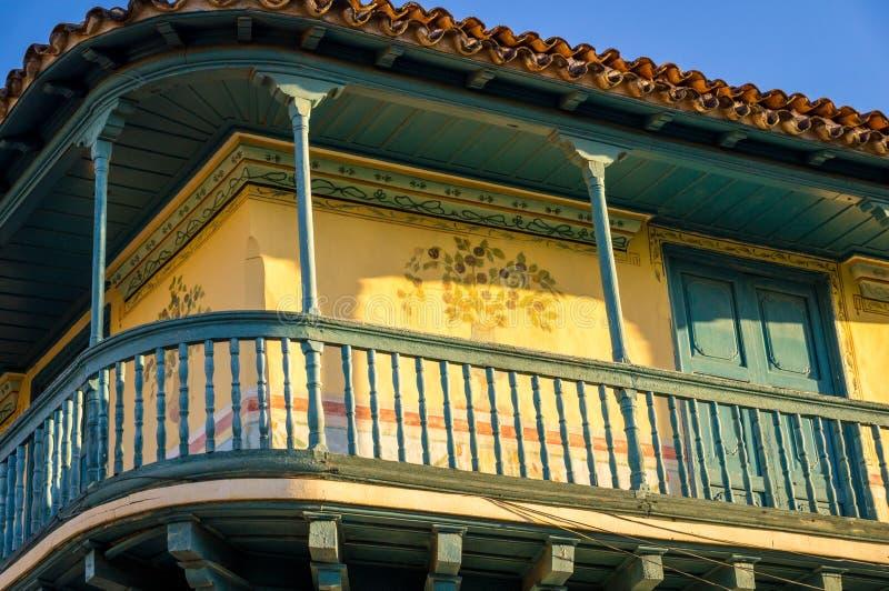 Belle façade coloniale en Trinidad Cuba images stock