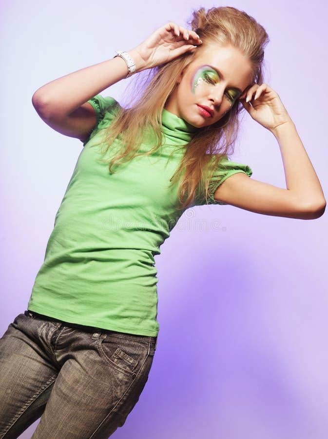 Belle femelle de danse image libre de droits