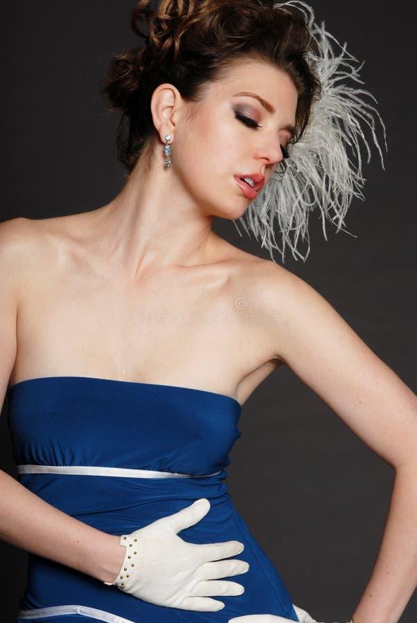 Belle femme à la mode photo stock