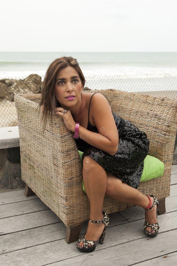 Belle femme équatorienne images libres de droits