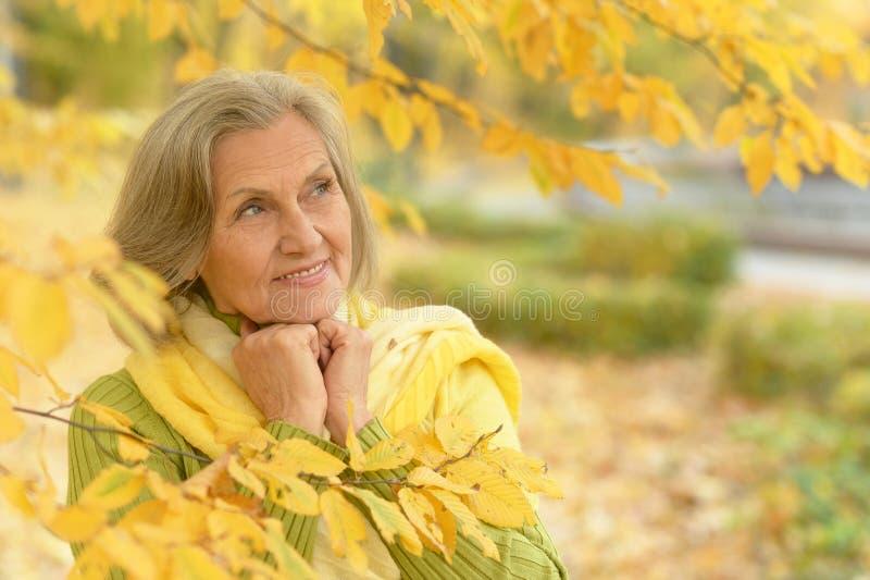 Belle femme aînée images stock
