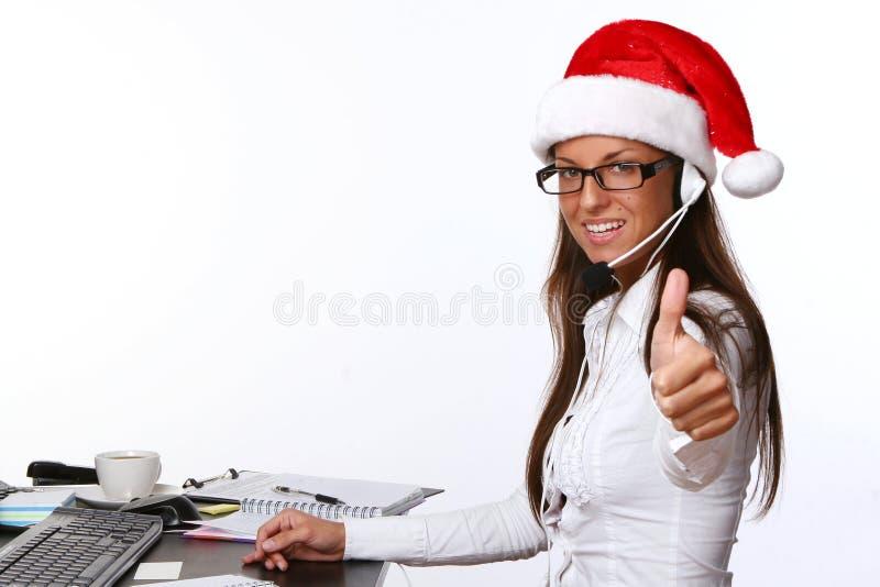 Belle femme adulte d'affaires avec le sourire image libre de droits