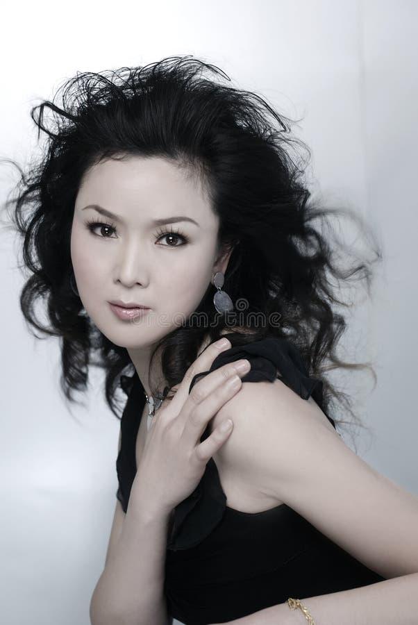 belle femme asiatique photo stock image du attrayant 7421484. Black Bedroom Furniture Sets. Home Design Ideas