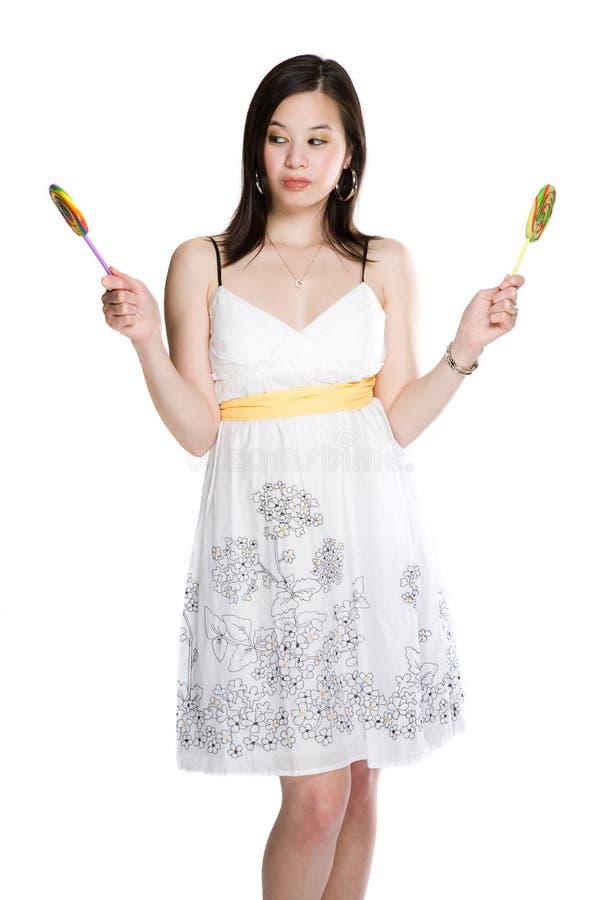 belle femme asiatique de lucettes photo libre de droits