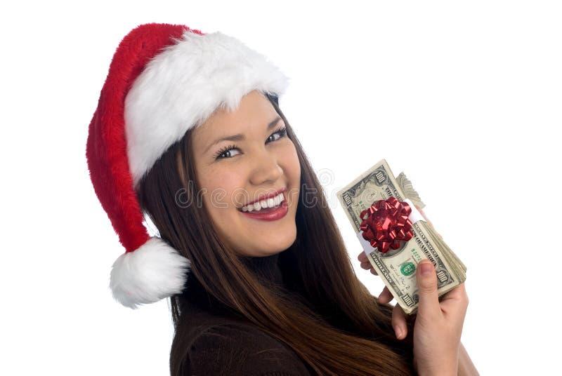belle femme asiatique de Noël photo libre de droits