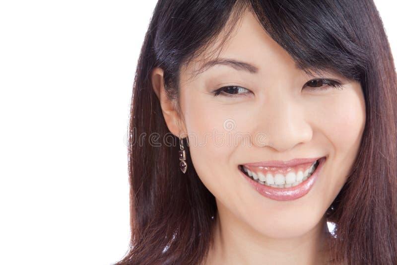Belle femme asiatique de sourire photos stock