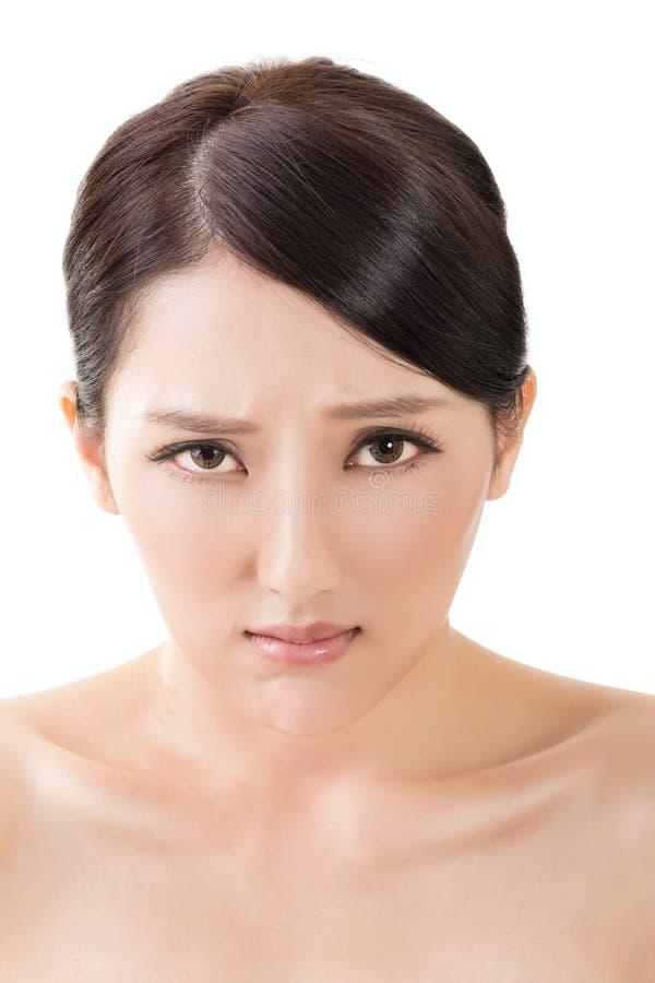 belle femme asiatique triste image stock image du confus visage 47414845. Black Bedroom Furniture Sets. Home Design Ideas