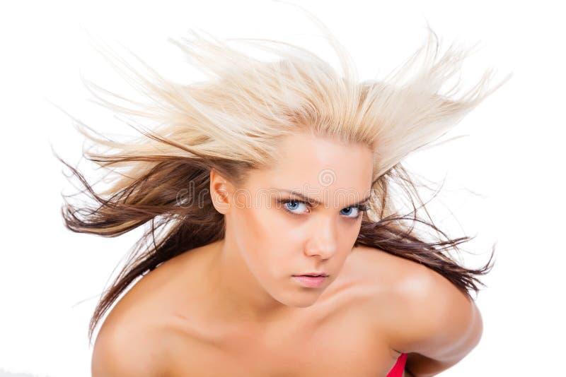 Belle femme avec le cheveu magnifique photographie stock