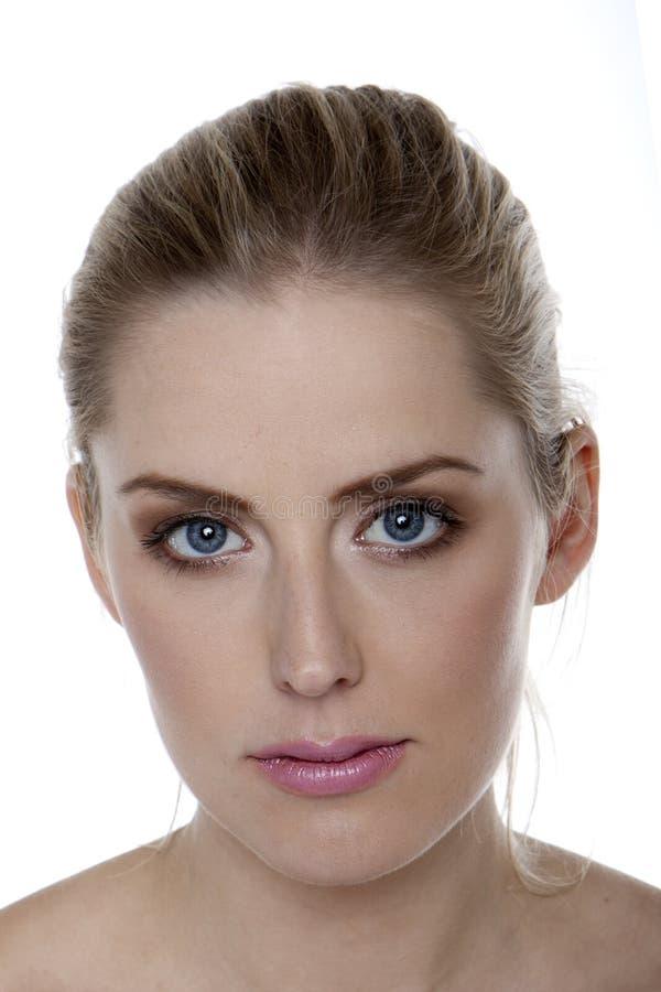 Belle femme blonde. image libre de droits