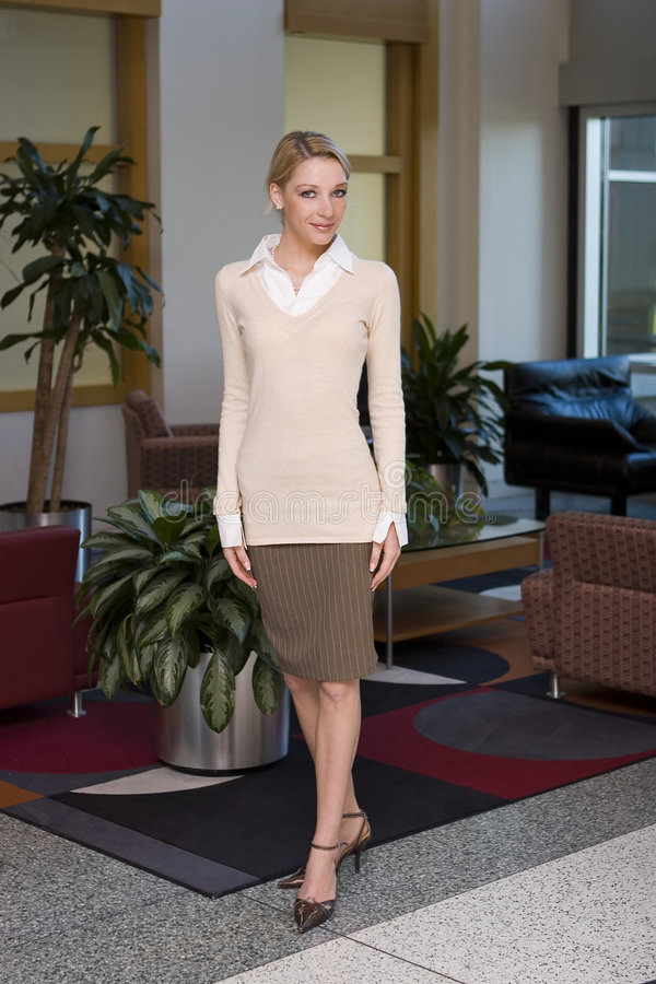 Belle femme blonde d'affaires image libre de droits