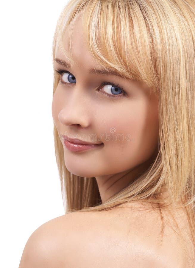 belle femme blonde de verticale images libres de droits