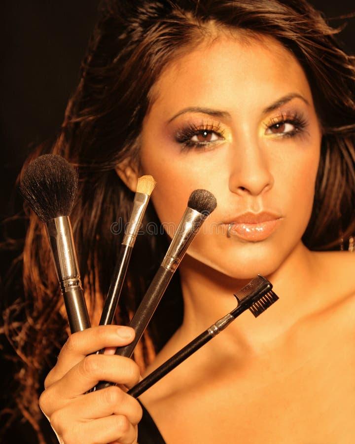 Belle femme cosmétique photographie stock