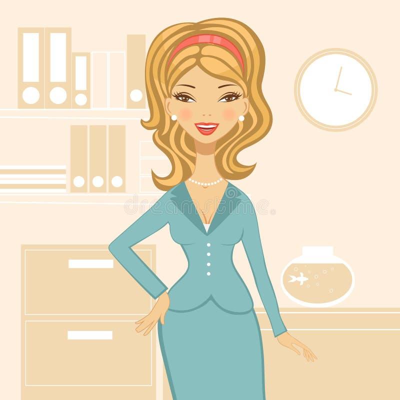 Belle femme d'affaires illustration de vecteur