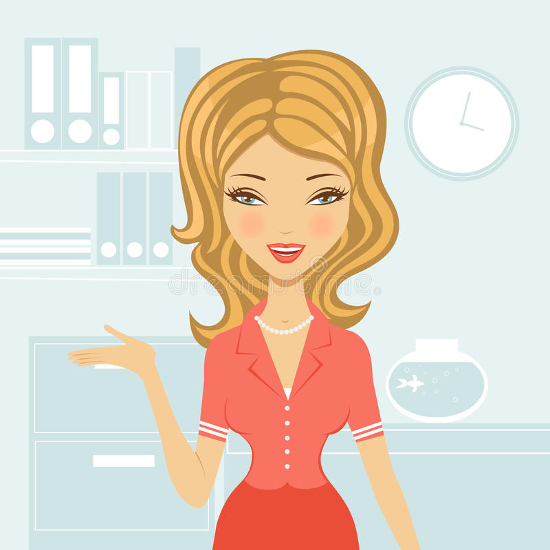 Belle femme d'affaires illustration stock