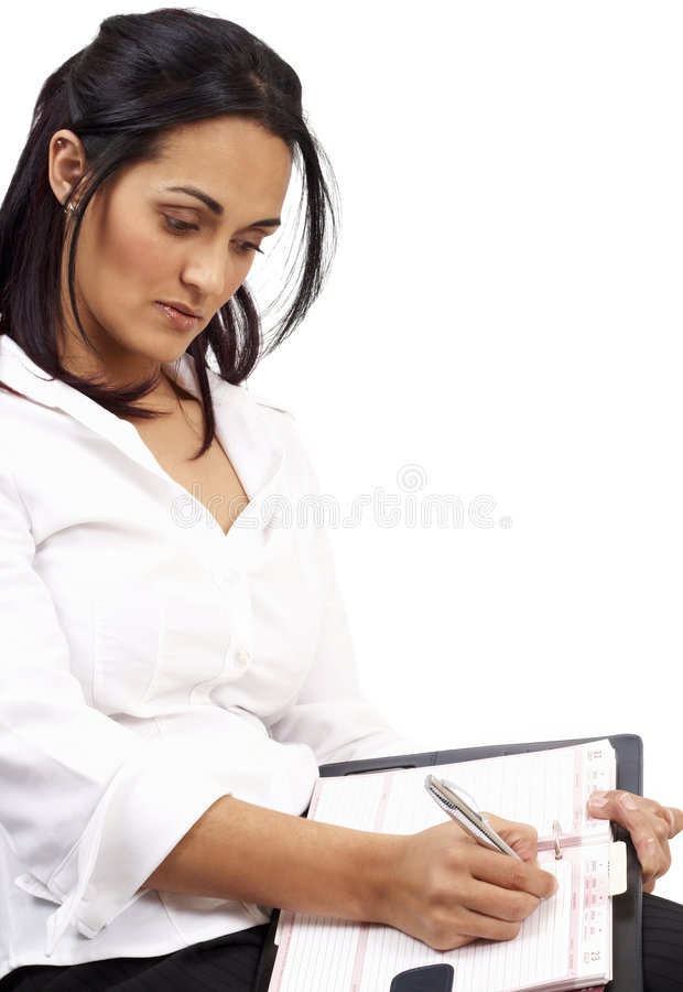 Belle femme d'affaires de brunette photos libres de droits