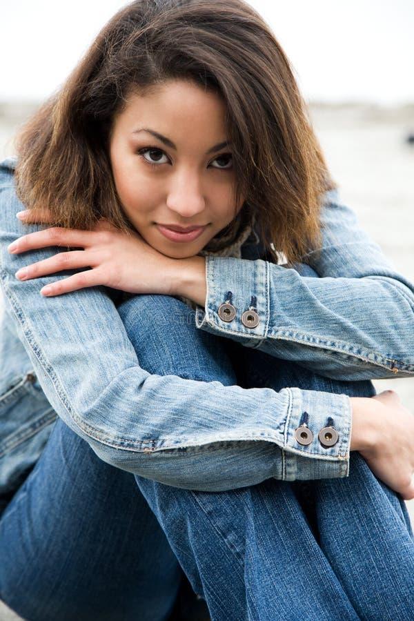 Belle femme d'afro-américain photos libres de droits