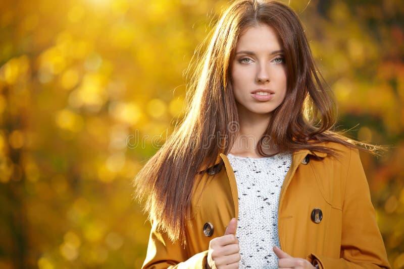 Download Belle femme d'automne image stock. Image du saison, loisirs - 45355585