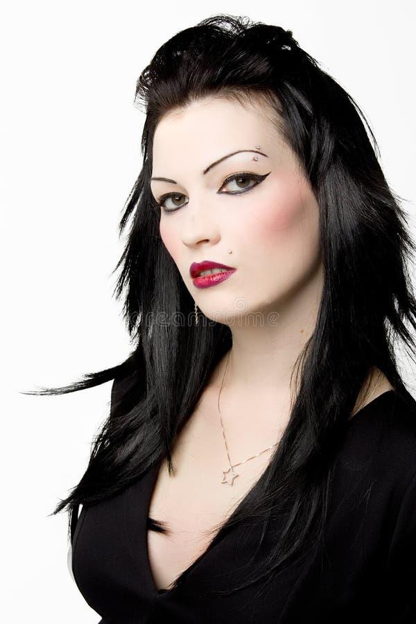 belle femme d'une chevelure noire photo stock