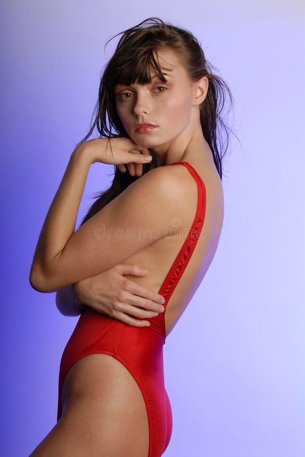 Belle femme dans le maillot de bain photo stock