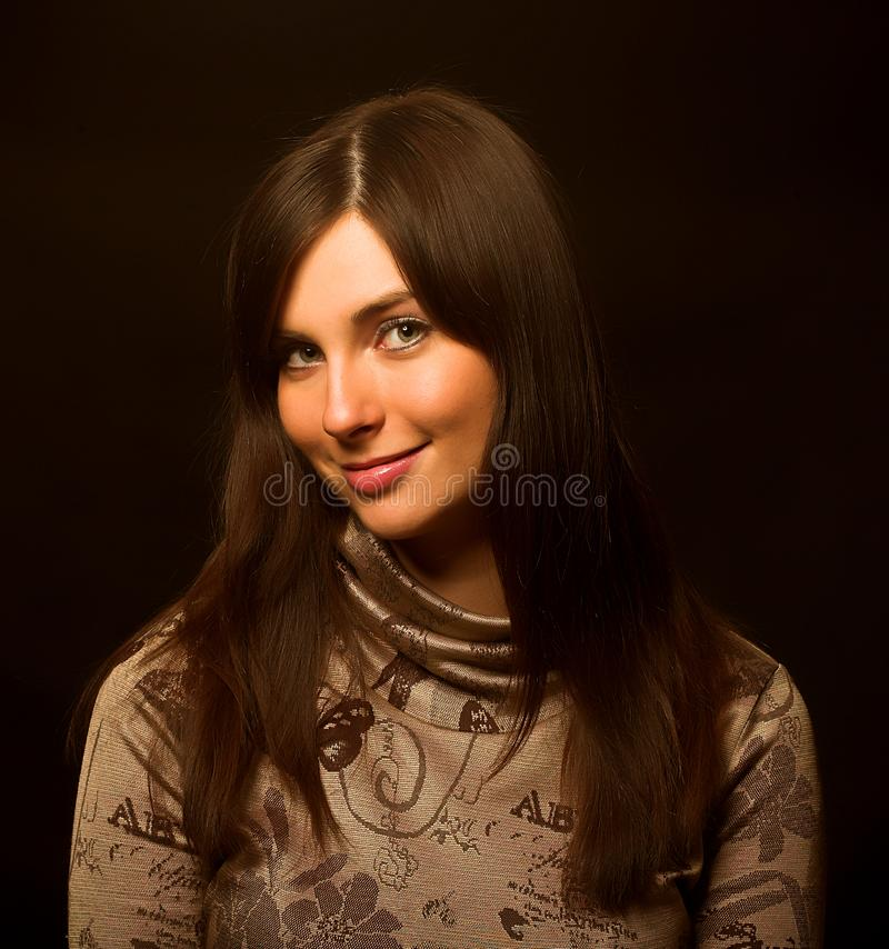 Belle femme de Brunette photo stock