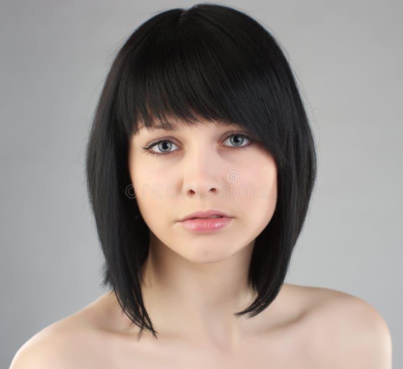 Belle femme de brunette photographie stock
