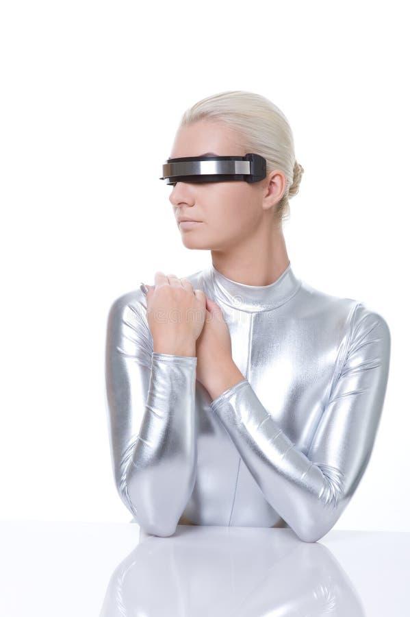 Belle femme de cyber photographie stock