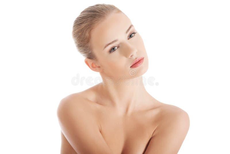 Belle femme de station thermale photographie stock