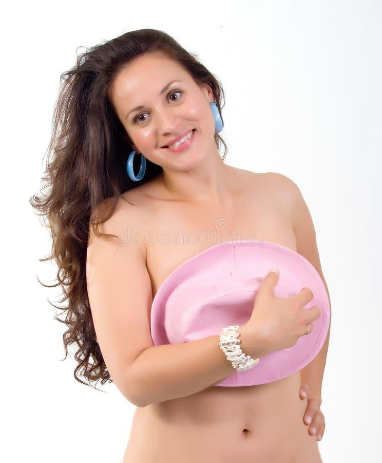 Belle femme de torse nu image libre de droits