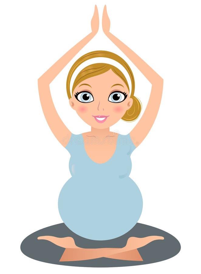 belle femme enceinte de yoga d 39 isolement sur le blanc photographie stock libre de droits image. Black Bedroom Furniture Sets. Home Design Ideas