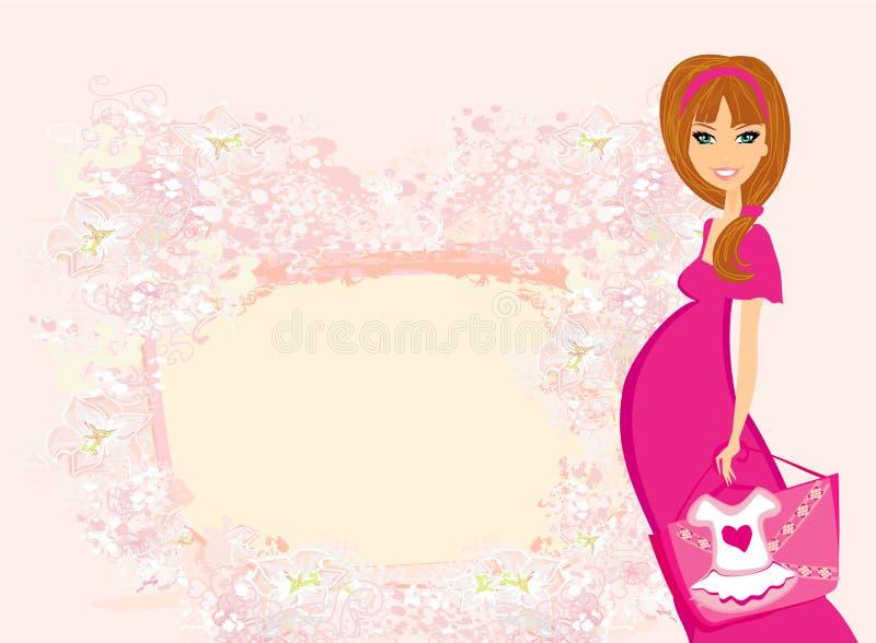 belle femme enceinte sur des achats illustration de vecteur illustration du mignon ventre. Black Bedroom Furniture Sets. Home Design Ideas