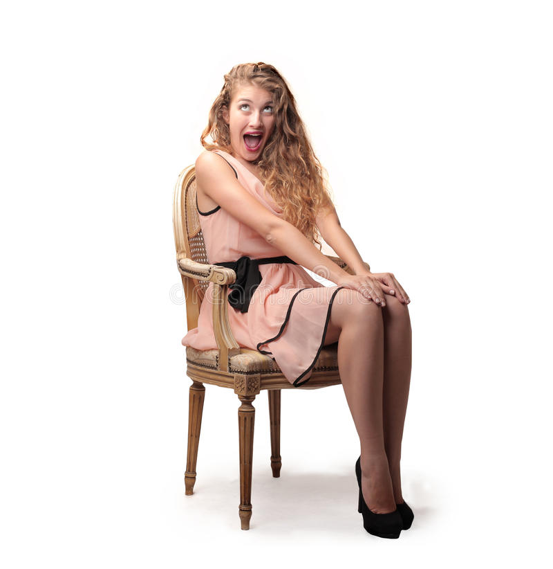 Belle femme heureuse images libres de droits