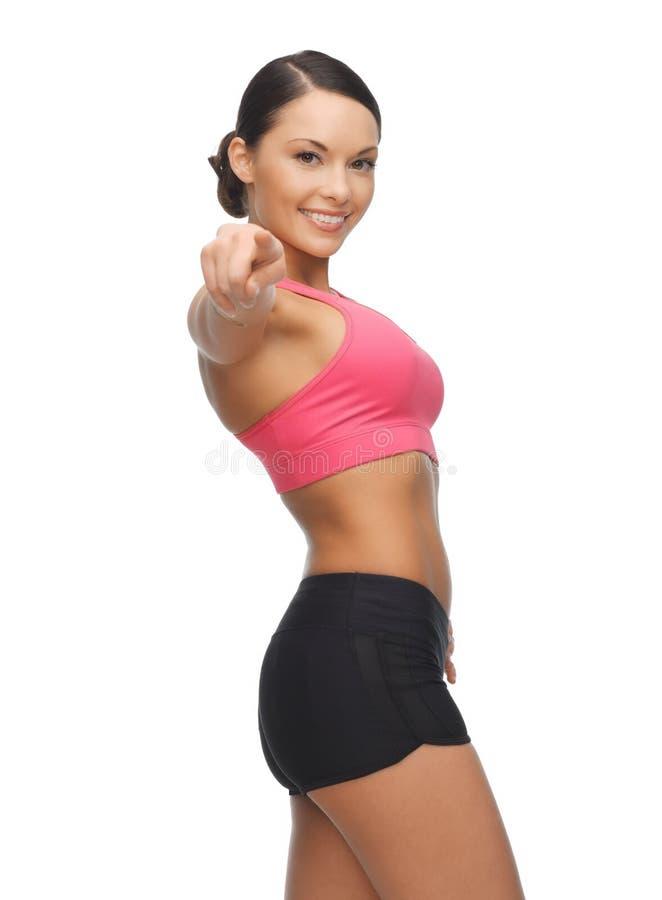 Belle femme sportive photographie stock libre de droits
