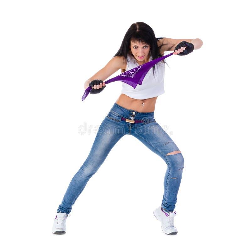 Belle femme sportive faisant l'exercice photos libres de droits