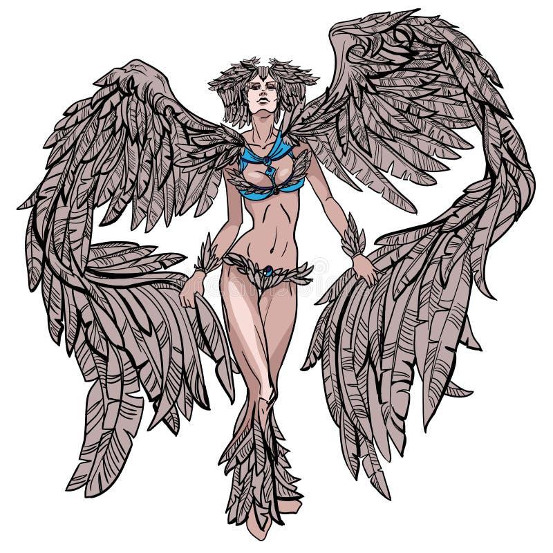 Belle fille à ailes images libres de droits