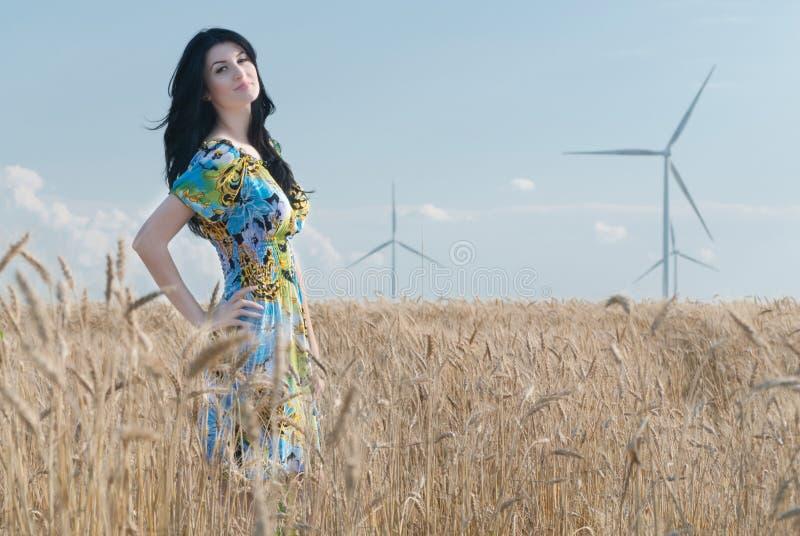 Belle fille à Rye photographie stock libre de droits
