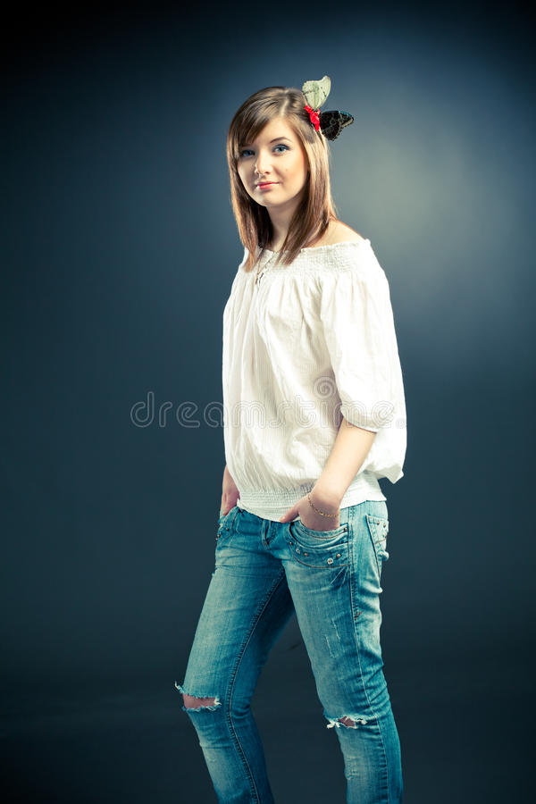 Belle fille photographie stock